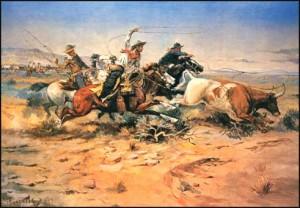 Een met cowboys bevolkte wereld