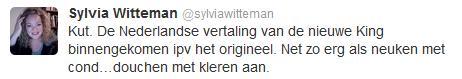 De gewraakte tweet van Sylvia Witteman