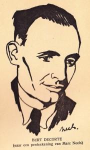 Bert Decorte (1945), een portret van de hand van de striptekenaar Marc Sleen